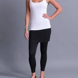 Eileen Fisher Stretch  knit Skirted Ankle Leggings